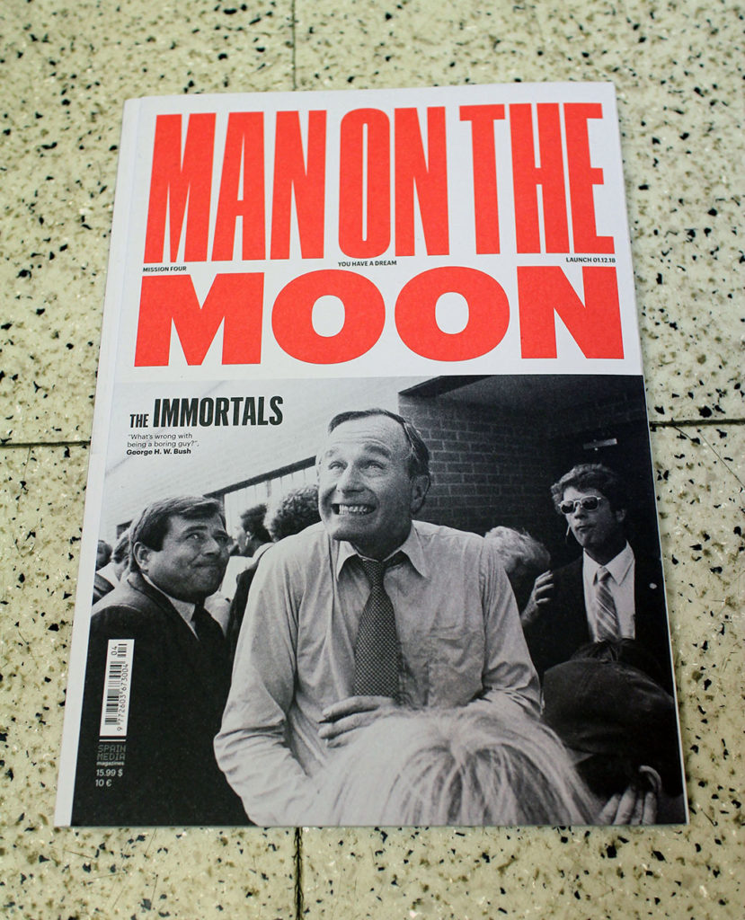 """IN """"Camden News"""" store to see """"man on the moon"""" magazine"""