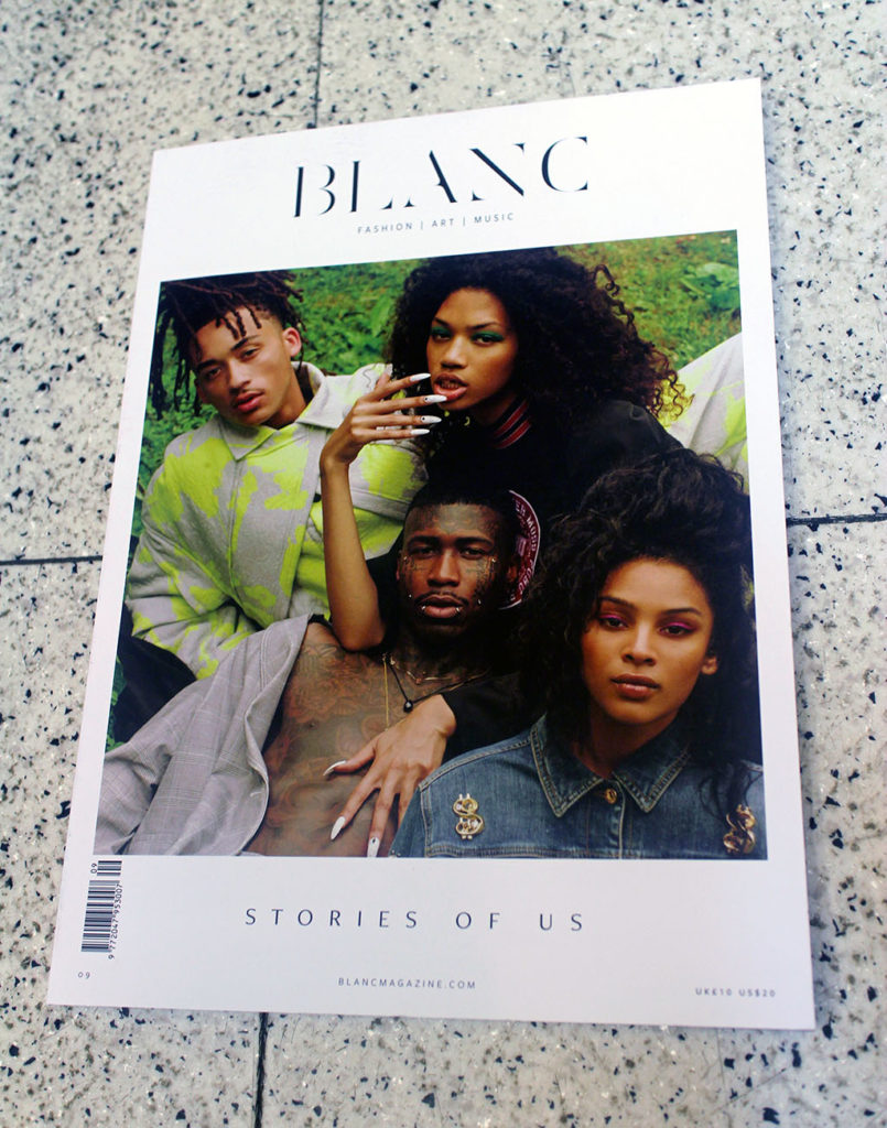 """IN """"Camden News"""" store to see """"blanc"""" magazine"""