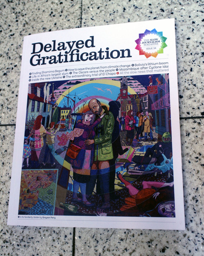 """IN """"Camden News"""" store to see """"delayed gratification """" magazine"""