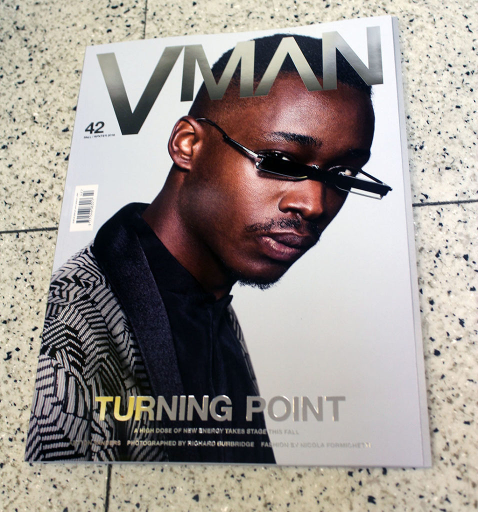 "IN ""Camden News"" store to see ""vman"" magazine"