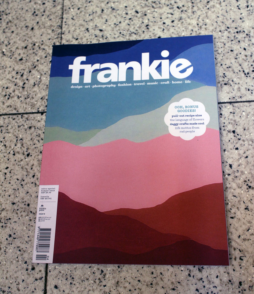 "IN ""Camden News"" store to see ""frankie"" magazine"