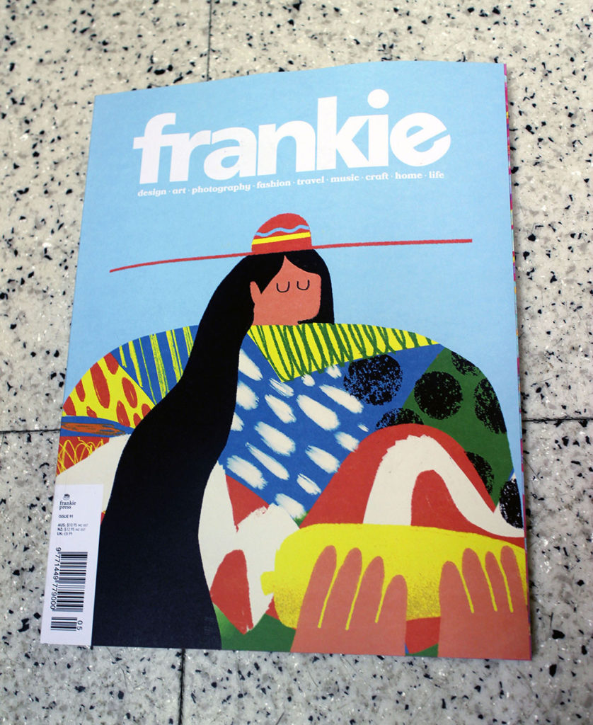"""IN """"Camden News"""" store to see """"frankie"""" magazine"""