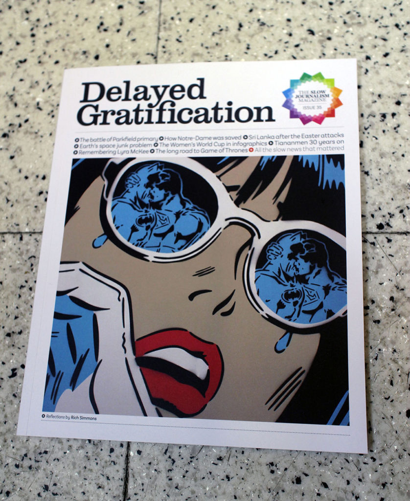 """IN """"Camden News"""" store to see """"delayed gratification"""" magazine"""