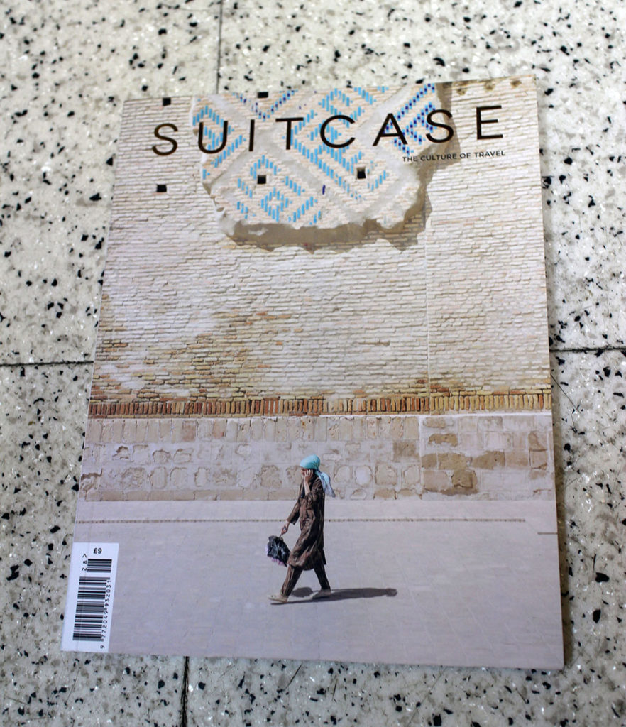 """IN """"Camden News"""" store to see """"suitcase magazine"""