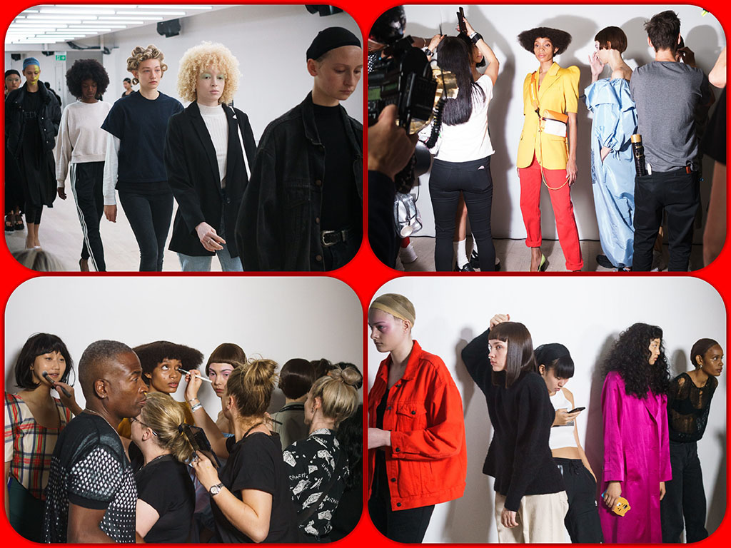 4me4you..introduces..features..previews..> 13: Photography - Stefan – London Fashion Week SS20 … back-stage Photographer: Stefan Designer: PUSHbutton