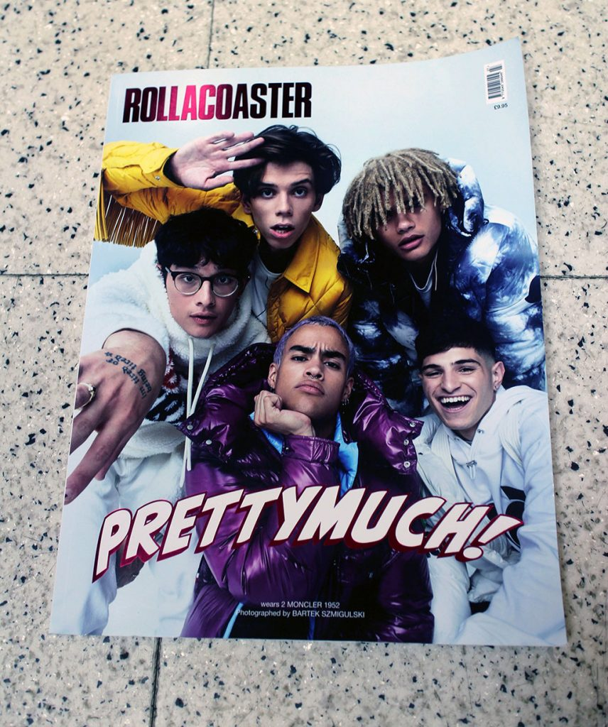 """IN """"Camden News"""" store to see """"rollacoaster"""" magazine"""