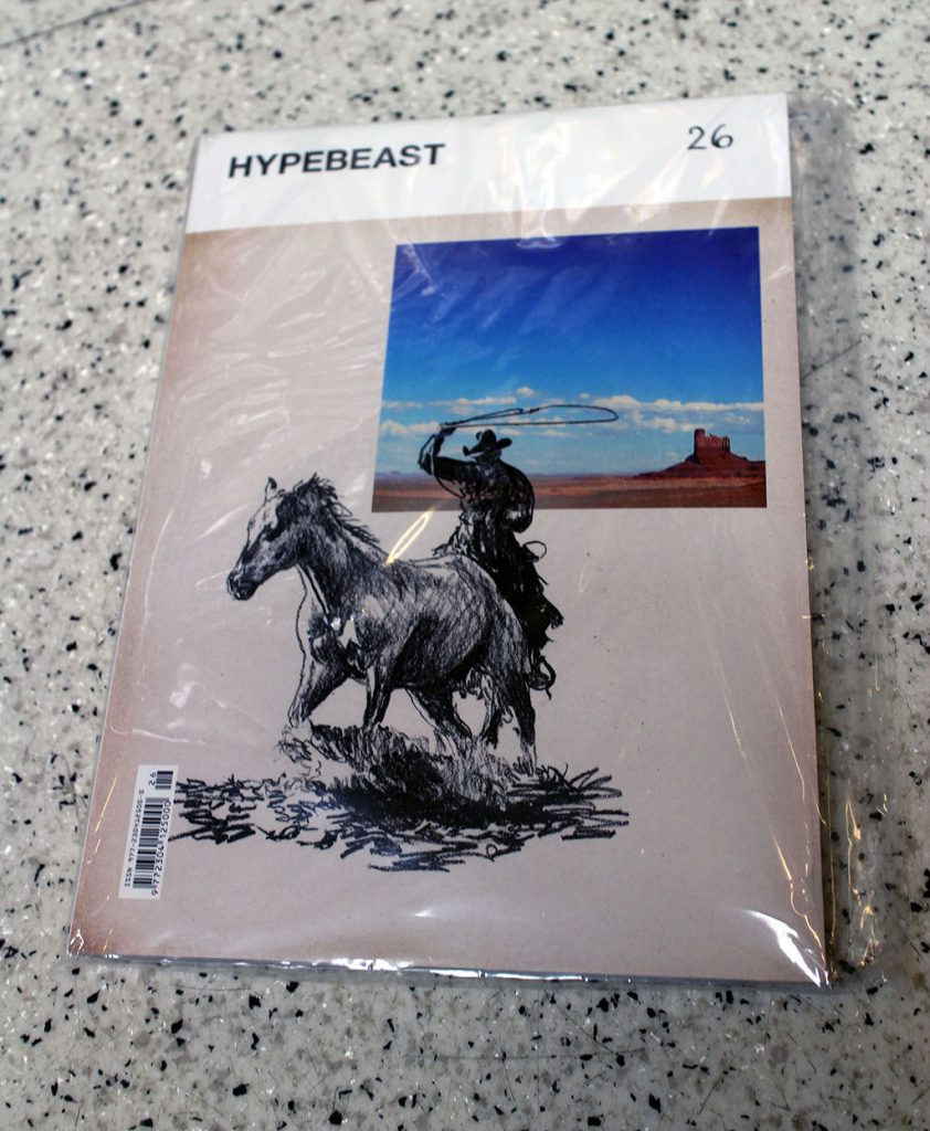 """IN """"Camden News"""" store to see """"hypebeast"""" magazine"""