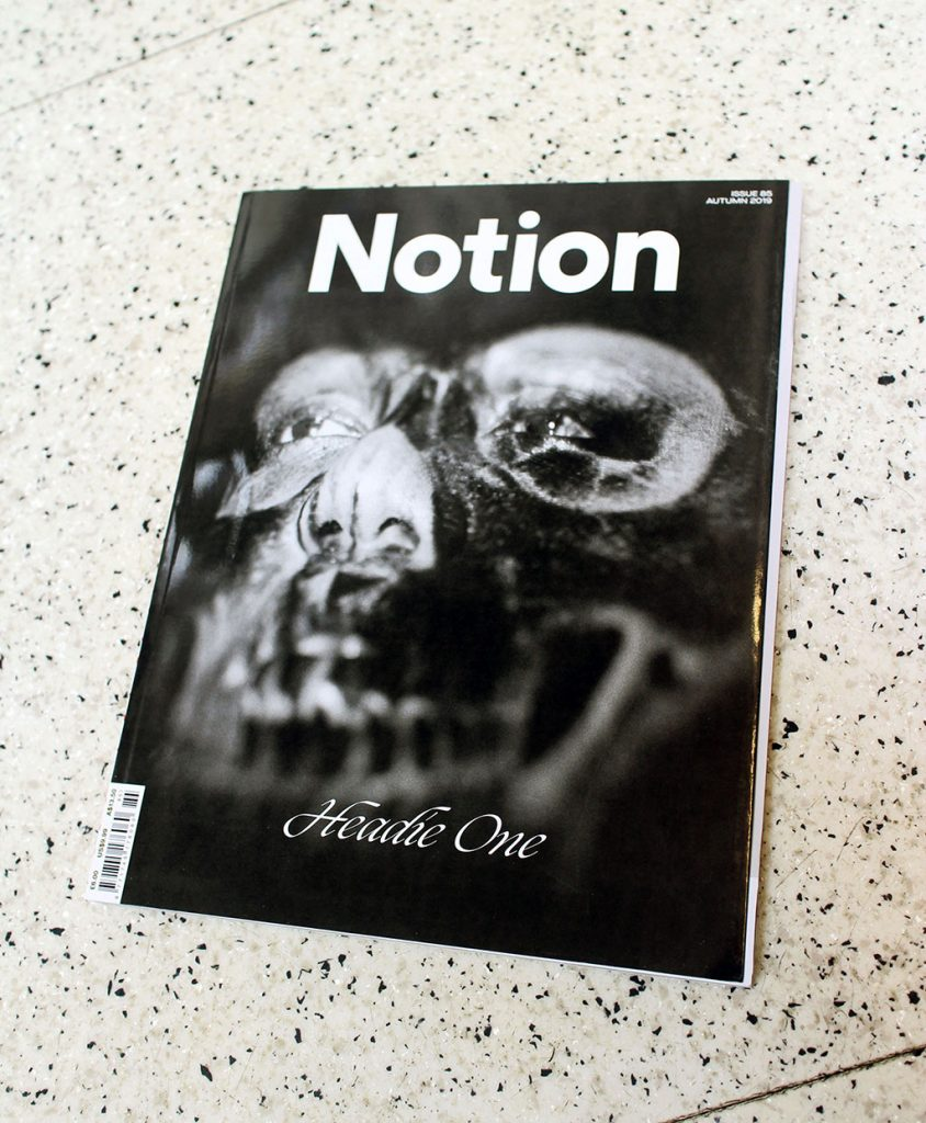 """IN """"Camden News"""" store to see """"notion"""" magazine"""