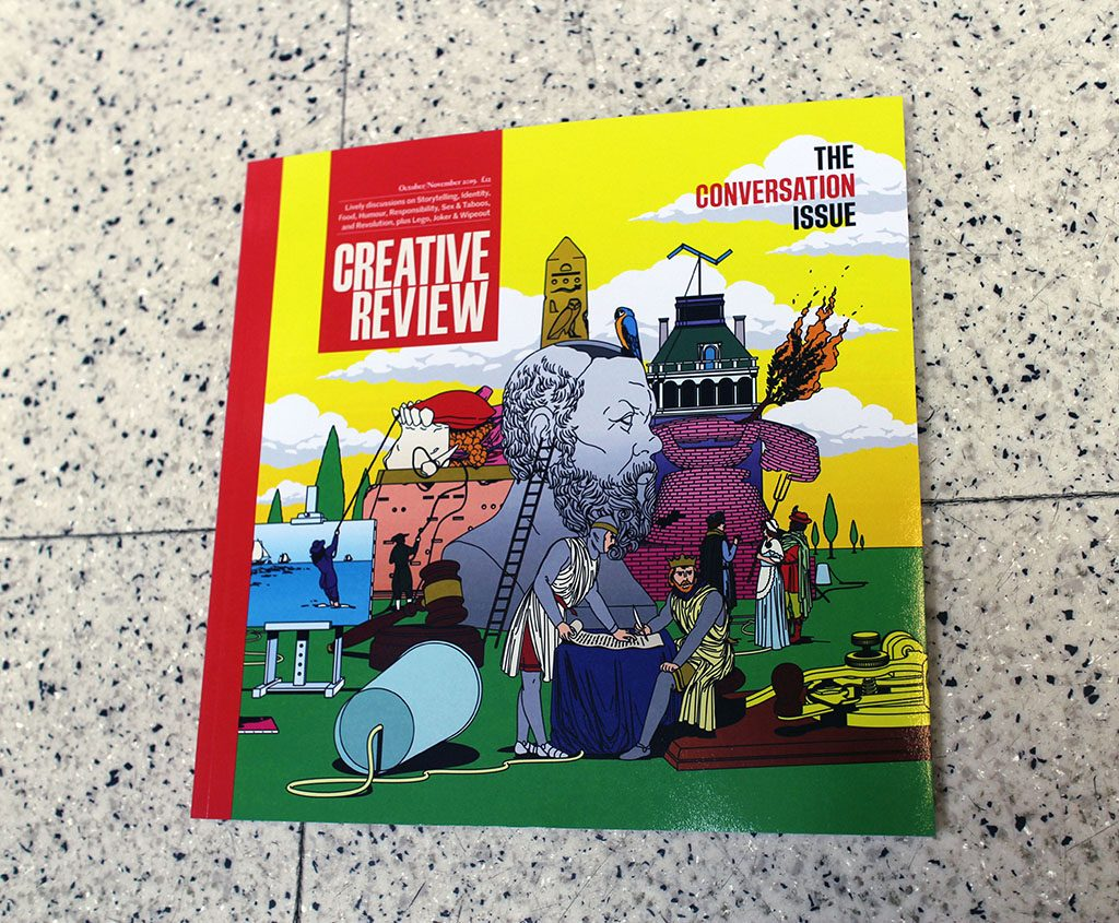 """IN """"Camden News"""" store to see """"creative review"""" magazine"""