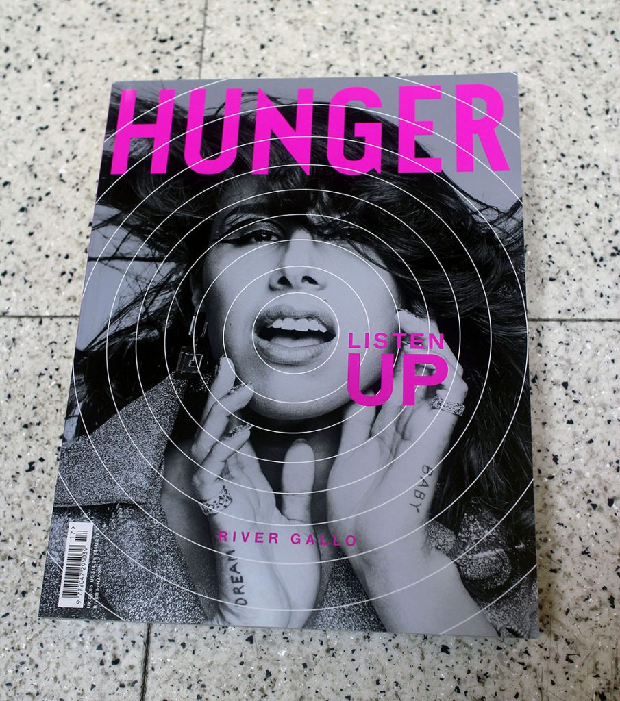"IN ""Camden News"" store to see ""hunger"" magazine"
