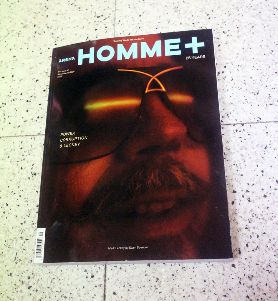 "IN ""Camden News"" store to see ""arena homme+"" magazine"