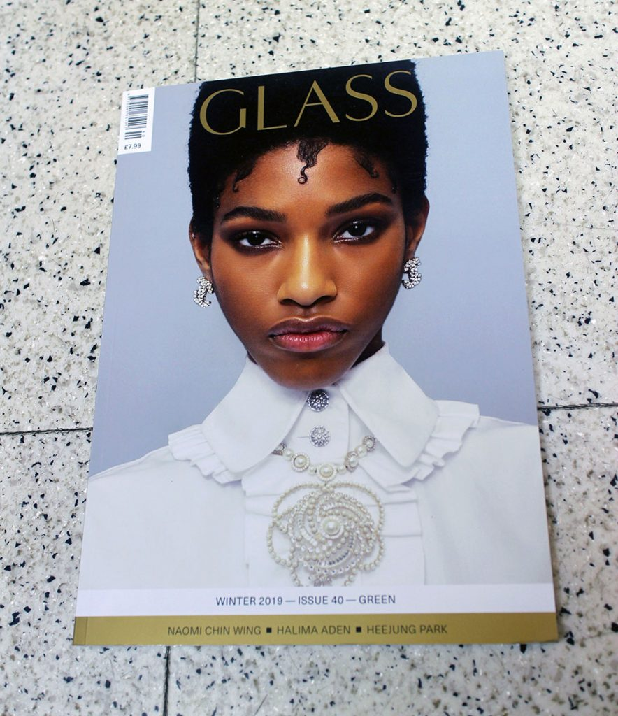 "IN ""Camden News"" store to see ""glass"" magazine"