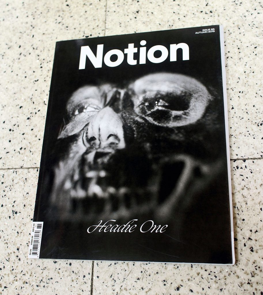 "IN ""Camden News"" store to see ""notion"" magazine"