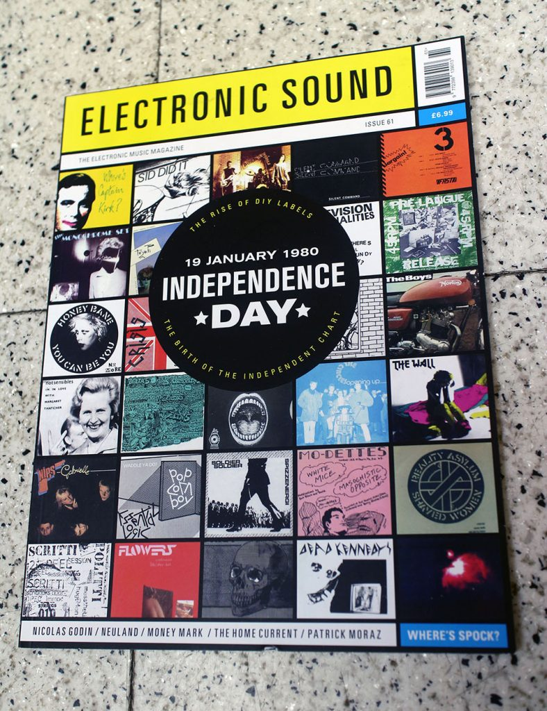 "IN ""Camden News"" store to see ""electronic sound"" magazine"