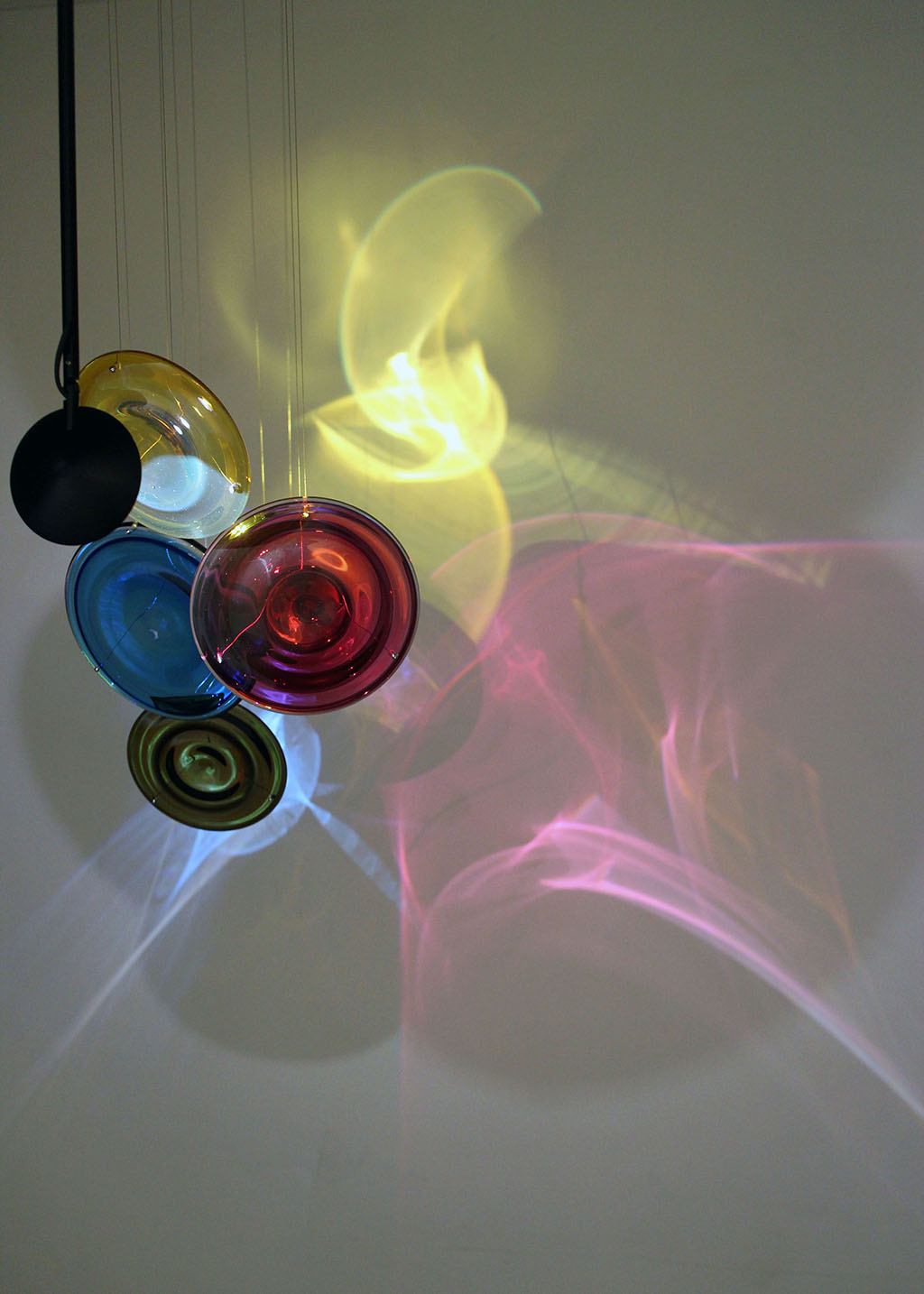 """4me4you visits Gallery Rosenfeld which showcased Riccardo Guarneri & Qingzen Han - """"Painting the Infinite"""". Gallery Rosenfeld ..>The artists place light and the infinite at the centre of their artistic practice; being viewed as a conduit to the mysteries of spirituality and the cosmos. Guarneri and Han speak of the impalpable and both concern themselves with the visible and the virtually invisible as, in different ways, their canvases take us on a voyage of initiation. Formally very different, yet conceptually connected even though from a generational and cultural perspective they are worlds apart. Guarneri's pastel colors divide the canvas into apparently rational aura of line,color and space, the whole ending in the visual equivalent of silence. Guarneri has always been concerned with the almost invisible line between gesture and emptiness, his lines often made with pencil appear out of space, which we find ourselves staring into aware that some pale shade of color or mark maybe lurking there barely visible. The young Chinese artist Qingzhen Han is far more baroque. Her line is rarely straight but can wiggle it's way across the canvas; here colors are stronger and hardly ever applied in a perfect geometric shape. She has a bewildering array of gestures which vary from work to work.."""