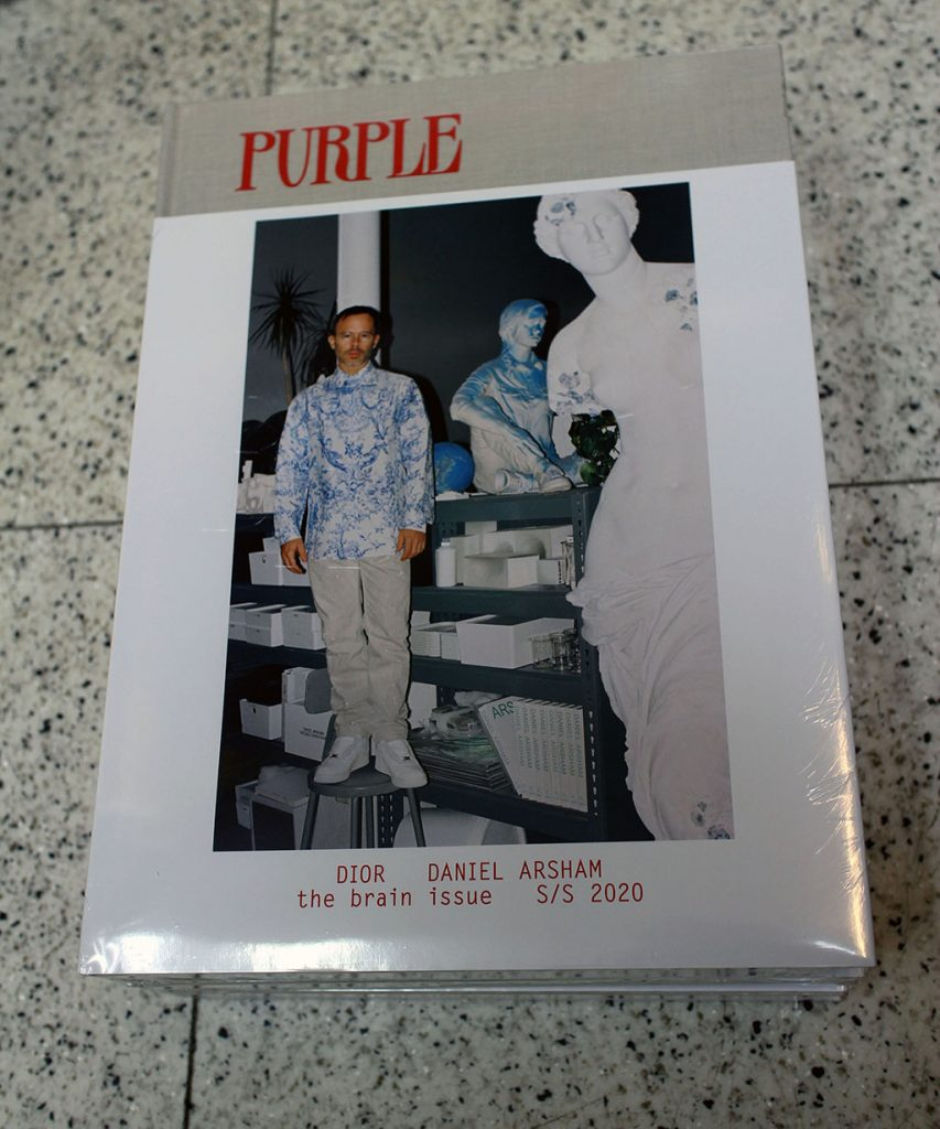 """IN """"Camden News"""" store to see """"purple"""" magazine"""