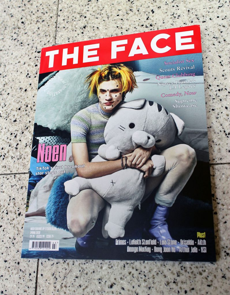 """IN """"Camden News"""" store to see """"face"""" magazine"""