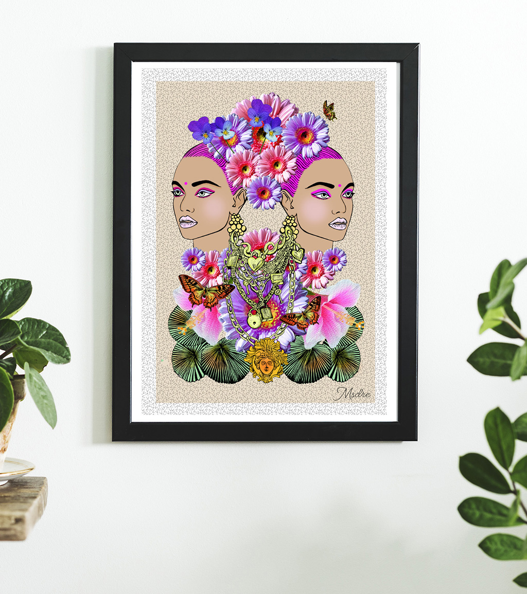 """4me4you features an enchanting artist: Kate Dressekie """"I always start my images organically.. I hate drawing directly on a computer so I do it the old school way with pen and ink"""". Kate Dressekie see more at: Instagram: https://www.instagram.com/msdre_art/ ..and visit her Etsy store: https://www.etsy.com/uk/shop/msdreart"""