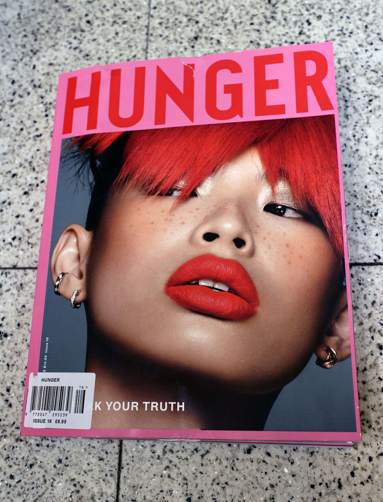 """IN """"Camden News"""" store to see """"hunger"""" magazine"""