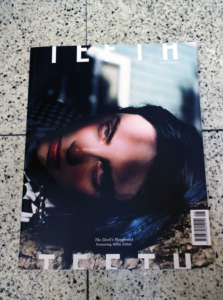 """IN """"Camden News"""" store to see """"teeth"""" magazine"""