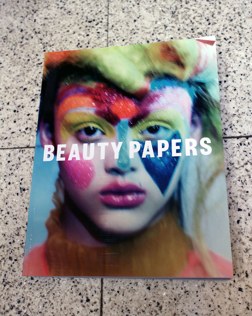 """IN """"Camden News"""" store to see """"beauty papers"""" magazine"""