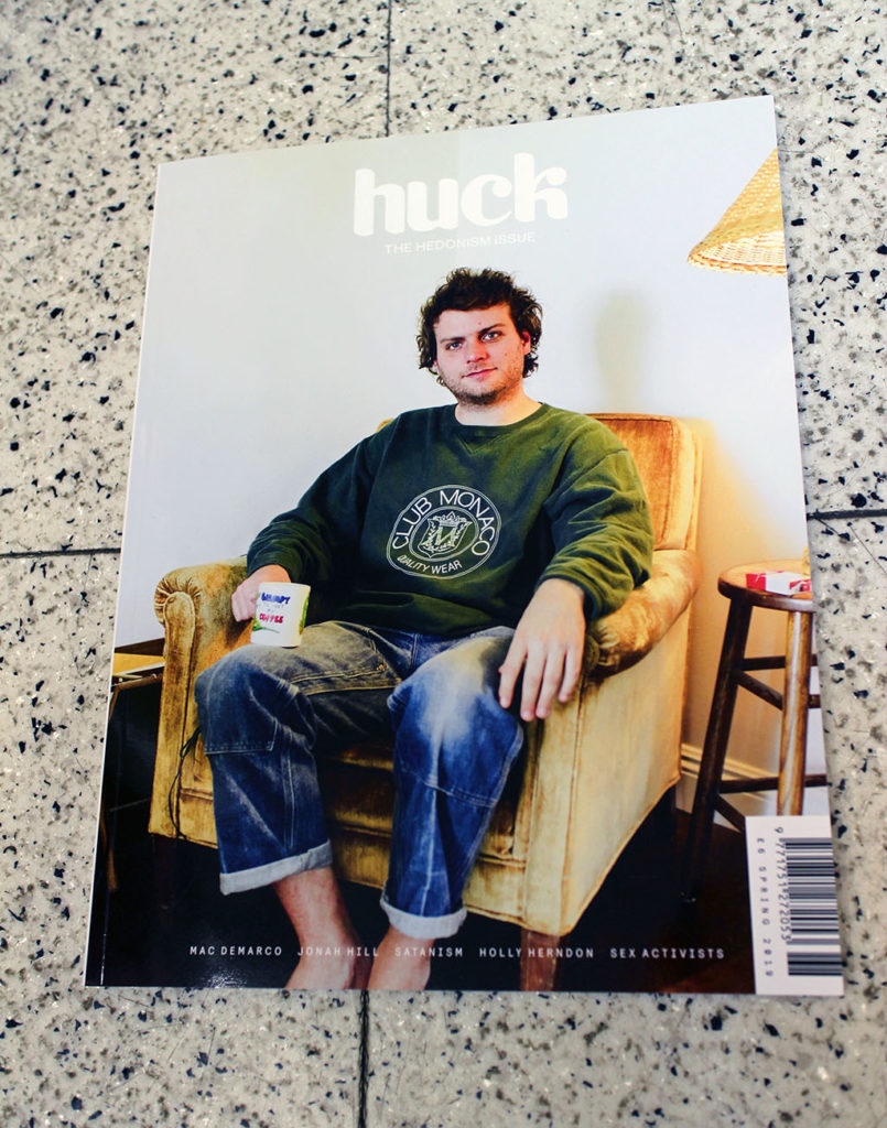 """IN """"Camden News"""" store to see """"huck"""" magazine"""