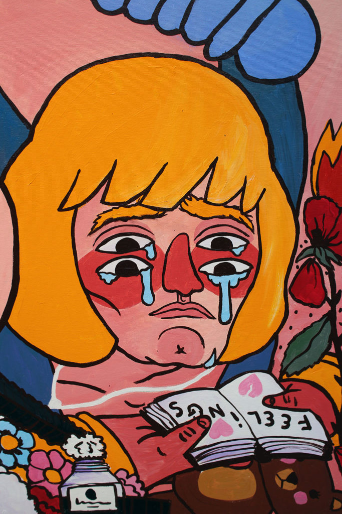 4me4you visits Stolen Space Gallery, which featured Hero's Wound by artist Ricardo Cavolo.