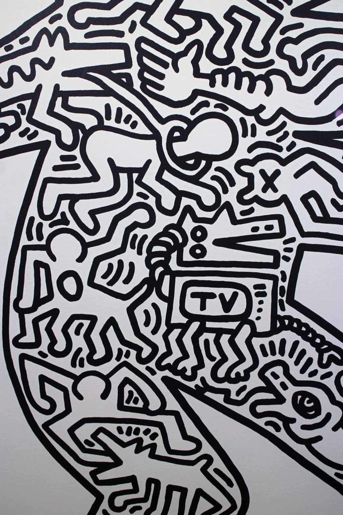 4me4you visits RHODES Contemporary Art Gallery which featured 'ICON' BY: Keith Haring.
