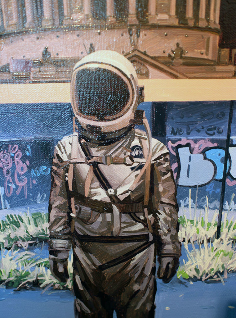 4me4you visits Stolen Space Gallery, which featured: 'DIVIDE: AN ASTRONAUT STORY' by SCOTT LISTFIELD