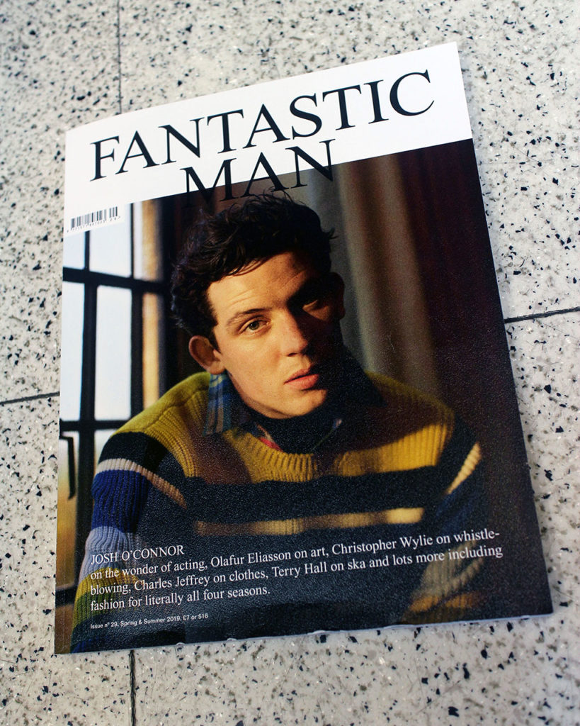"""IN """"Camden News"""" store to see """"fantastic man"""" magazine"""
