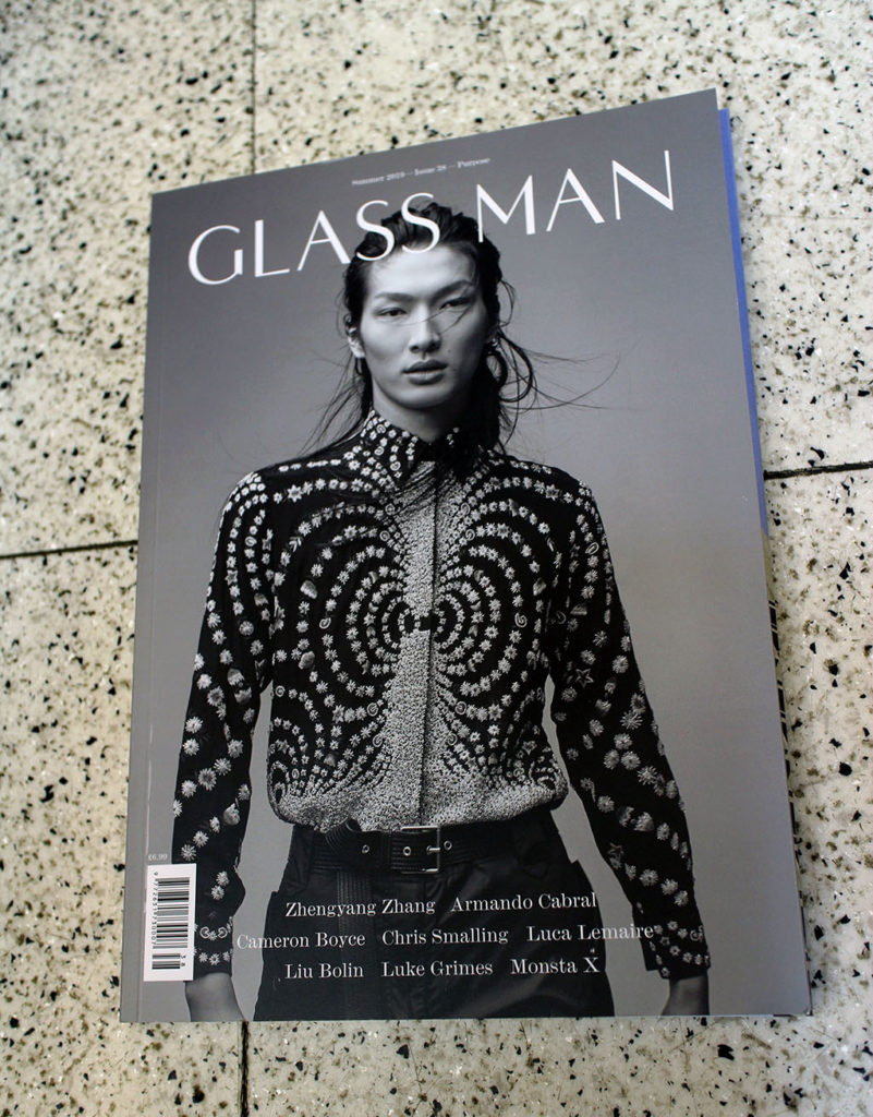 """IN """"Camden News"""" store to see """"glass man"""" magazine"""