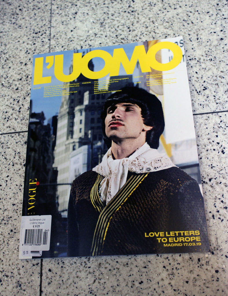 """IN """"Camden News"""" store to see """"l'uomo"""" magazine"""