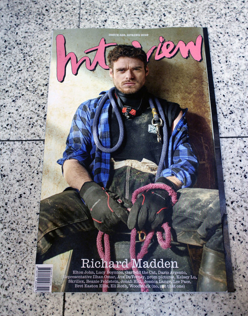 """IN """"Camden News"""" store to see """"interview"""" magazine"""