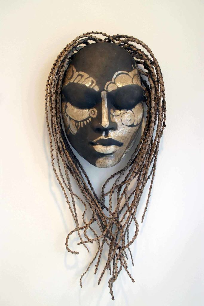 """Zari Gallery…>Nakazzi Tafari is an artist, dancer, dreamer and lover of all things natural, organic, beautiful and wild. """"Nature is my greatest inspiration and I create masks, sculptures, paintings as a form of cultural confrontation - shifting awareness of the viewer with their mere presence."""