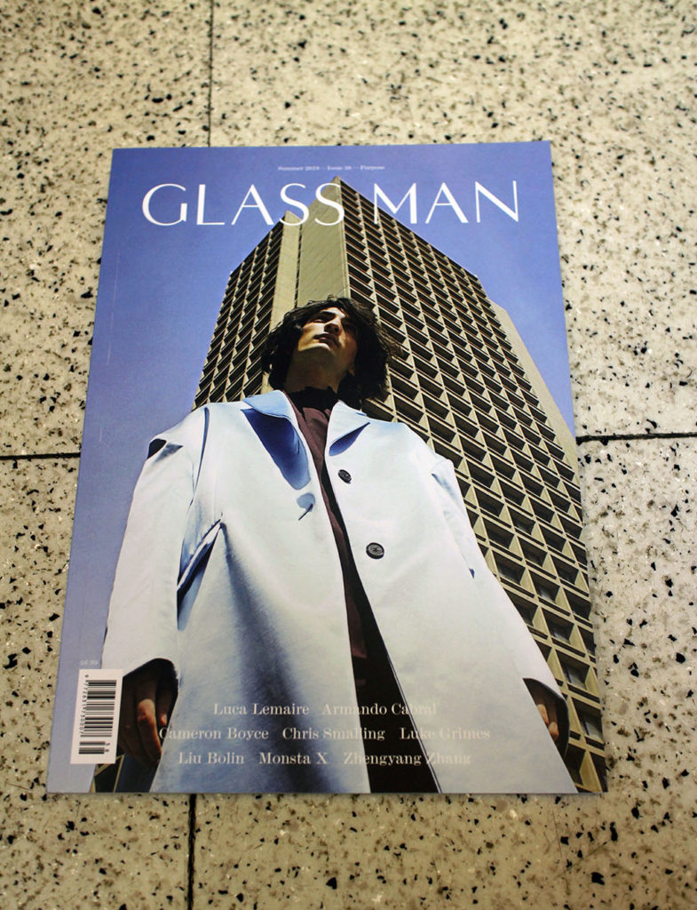 "IN ""Camden News"" store to see ""glass man"" magazine"