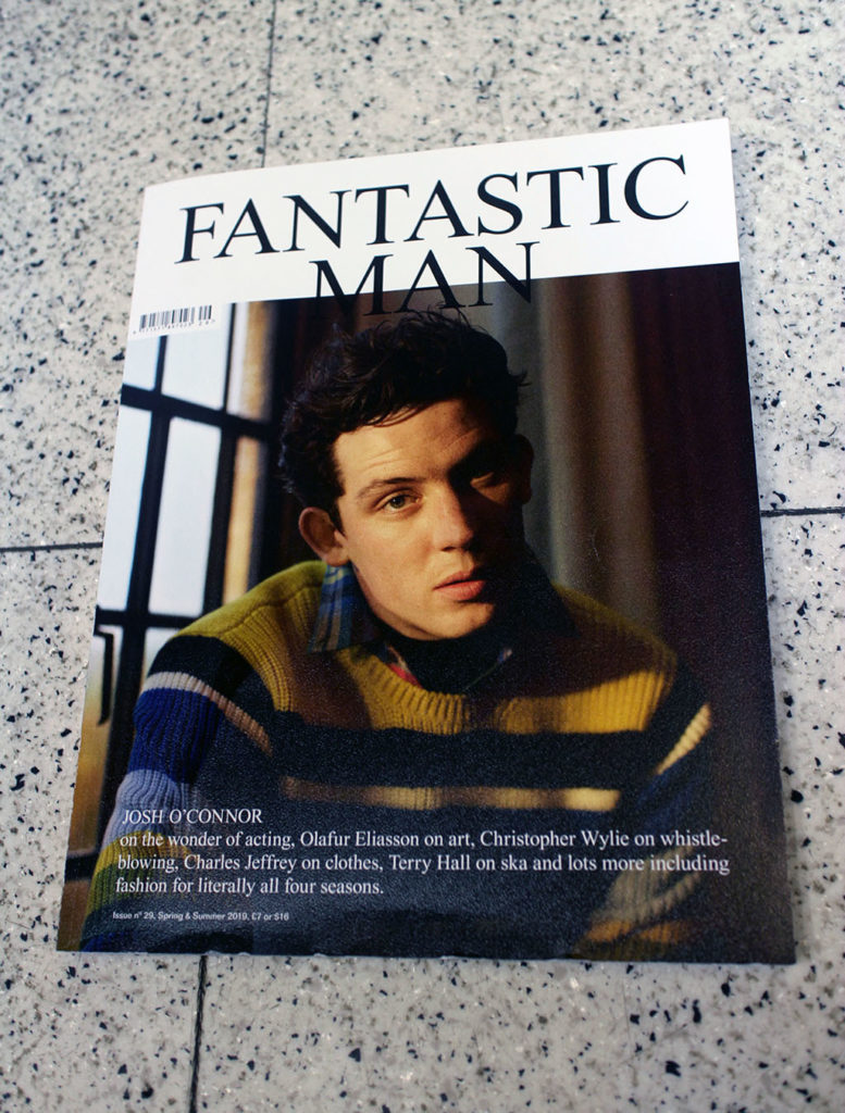 "IN ""Camden News"" store to see ""fantastic man"" magazine"