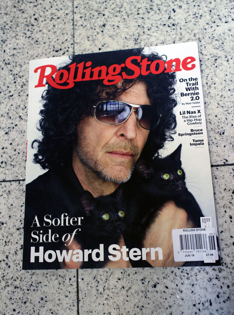 "IN ""Camden News"" store to see ""rolling stone"" magazine"