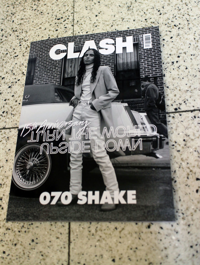 "IN ""Camden News"" store to see ""clash"" magazine"