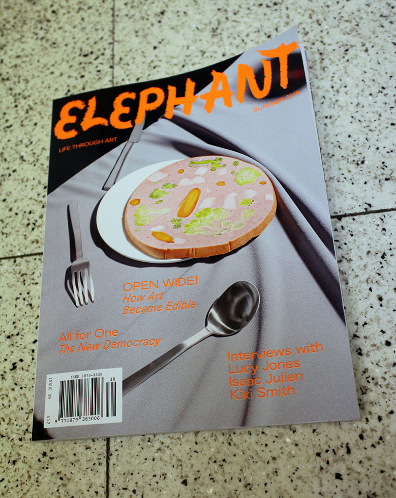 "IN ""Camden News"" store to see ""elephant"" magazine"