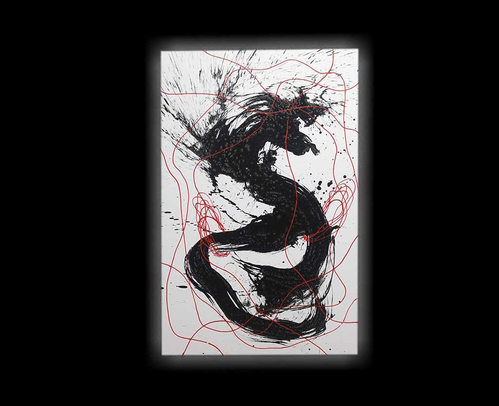 """""""My art is more of an attempt to harmoniously blend Eastern and Western elements and artistic media together than to limit myself and select one technique over another"""". - Qin Feng"""