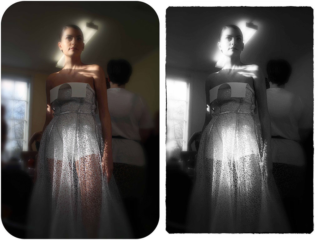 Chanel Joan Elkayam combines both sophistication and glamour. The simple and timeless appearance of her collections appeal to all tastes with their slender silhouettes, alluring cuts and sensual fabrics. Notable pieces within her designs have been embroidered with diamonds, Swarovski crystals and glass beads.
