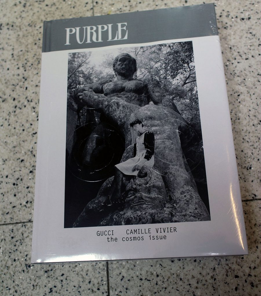 "IN ""Camden News"" store to see ""purple"" magazine"