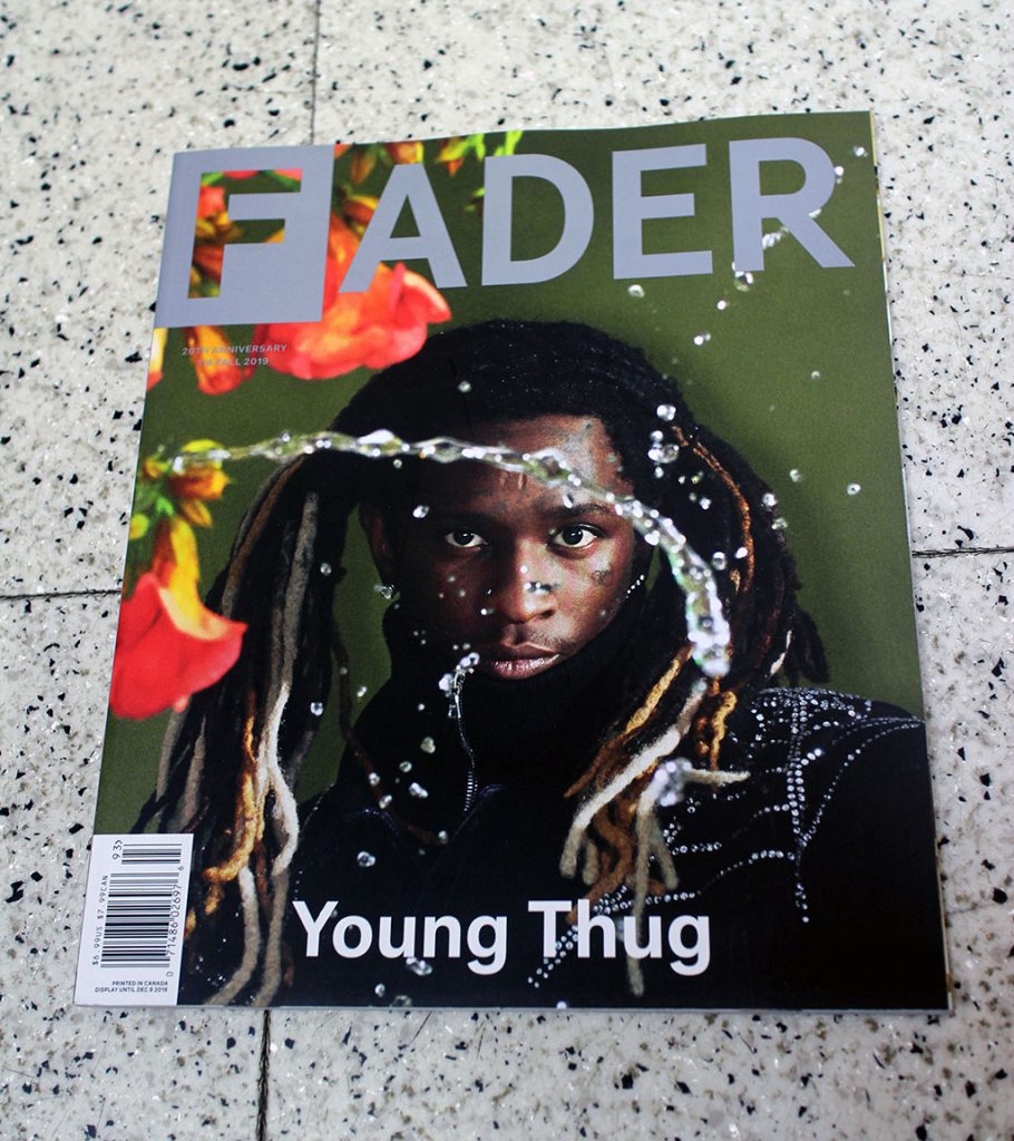 "IN ""Camden News"" store to see ""fader"" magazine"