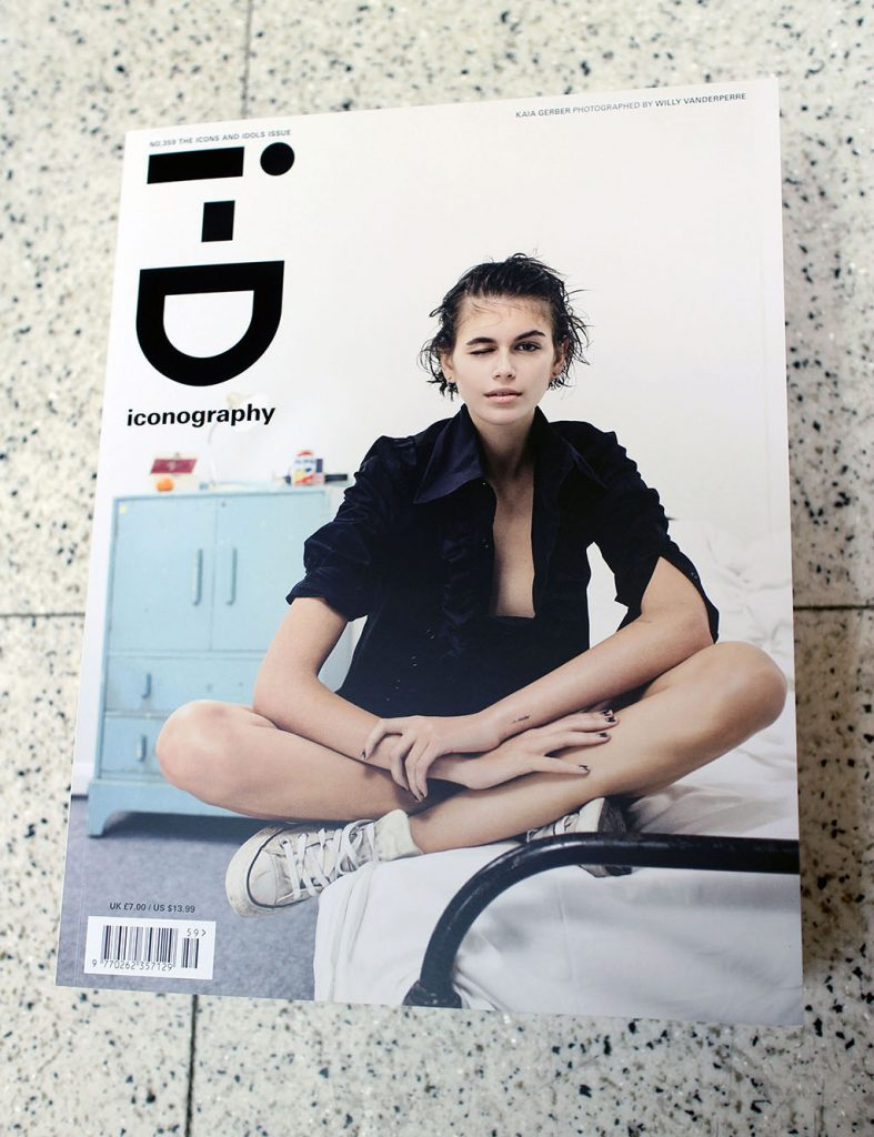 "IN ""Camden News"" store to see ""I-D"" magazine"