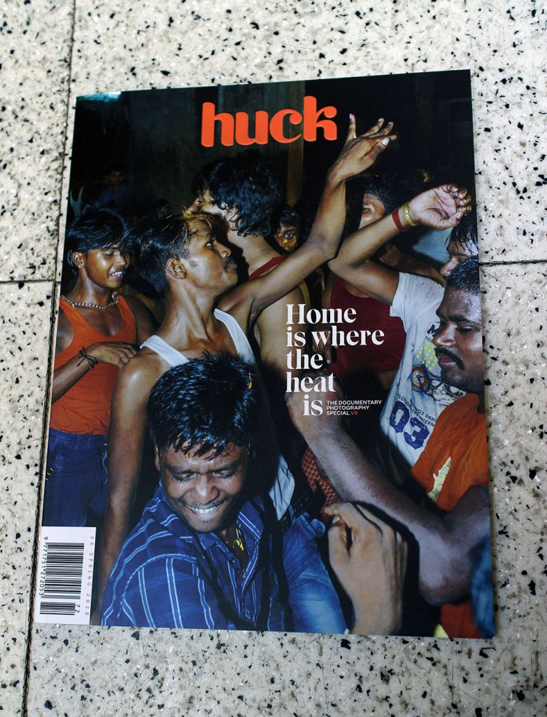 "IN ""Camden News"" store to see ""huck"" magazine"