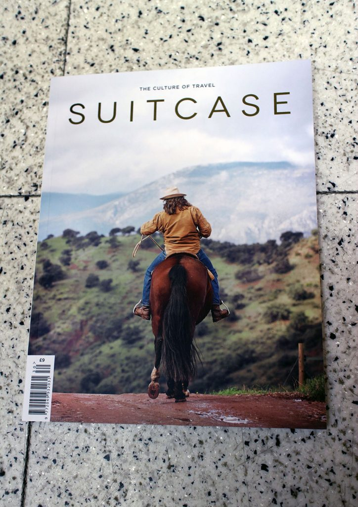"IN ""Camden News"" store to see ""suitcase"" magazine"