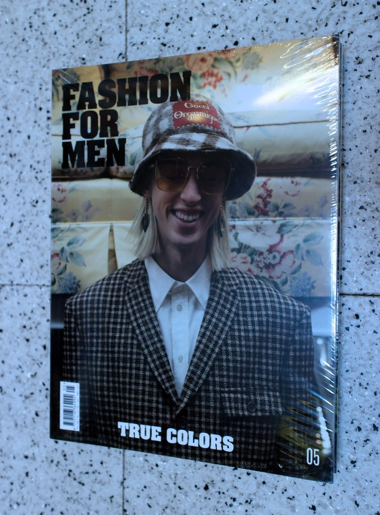 """IN """"Camden News"""" store to see """"fashion for men"""" magazine"""