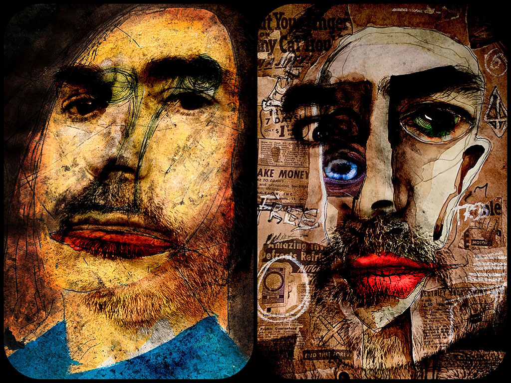 "4me4you features a very interesting artist ""Eu Clides"". 4me4you discovered his pictures on Instagram and delving deeper into his profile we introduce you to his impelling works - Eu Clides. Auto Retrato - Moldado por uma vida entre espelhos e pinturas. Self Portrait - Shaped by a life between mirrors and paintings. See more at Instagram: - - @eu_clides01"