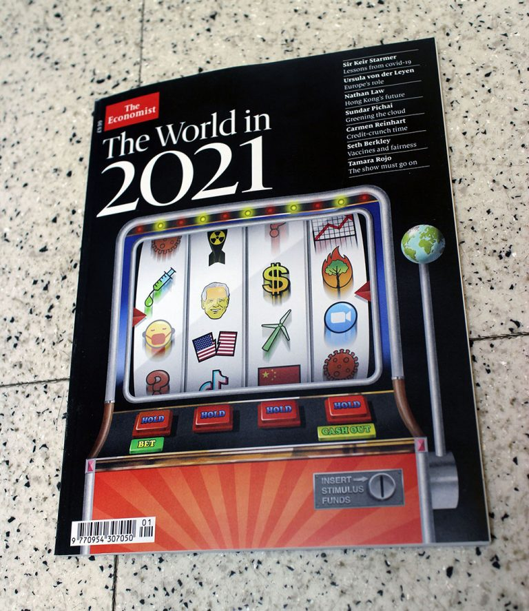 """IN """"Camden News"""" store to see """"the economist"""" magazine"""